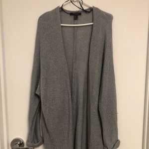 F21 Loose Grey Knit Cardigan
